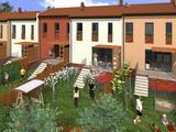 Győr-Szabadhegyen nappali + 3 szobás, kertkapcsolatos sorház lakóparkban eladó, Győrszabadhegy